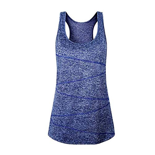 Flow Sleeveless - Maternity Clothes Tank top Workout Racerback Yoga Activewear Running Razorback Sleeveless Plus Size Flows Swing Tunics Training Burnout Blue S