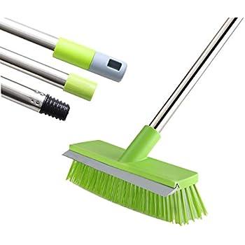 Amazon Com Meibei Floor Scrub Brush With Rubber Blade 48