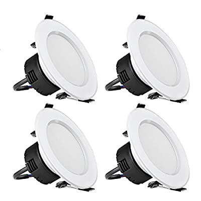 LE 4 Pack 8W 3.5-Inch LED Recessed Lighting, 75W Halogen Bulbs Equivalent, Not Dimmable, LED Driver Included, 400lm, Daylight White, 6000K, 90° Beam Angle, Recessed Ceiling Lights, LED Downlight