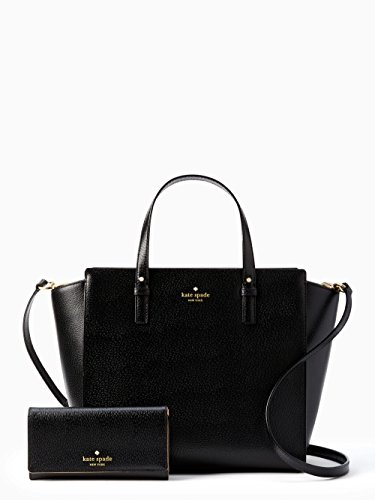Kate Spade Grand Street Hayden and Nika Leather Shoulder Bag Satchel with Matching Wallet Set by Kate Spade New York