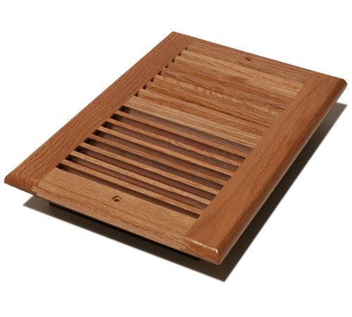 Decor Grates WL610W-N 6-Inch by 10-Inch Wood Wall Register, Natural Oak ()