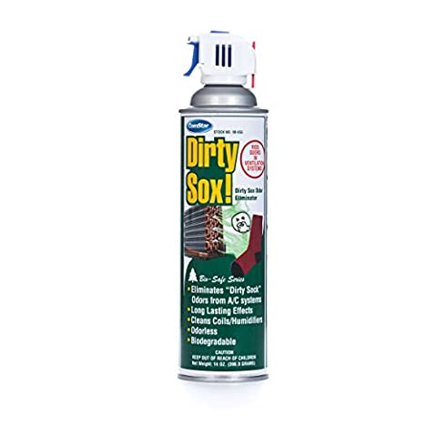 ComStar 90-655 Dirty SOX Odor Eliminator Aerosol with Trigger Spray, 20 oz., White - Sox Metal