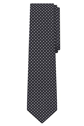 Jacob Alexander Polka Dot Print Men's Polka Dotted Extra Long Tie - Charcoal