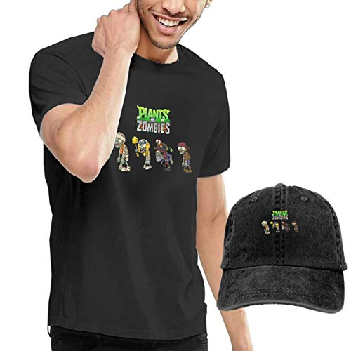 Olaiolai Men T Shirts Graphic Plants Vs Zombies Cotton Shirt Baseball Caps Adjustable Baseball Cap Black]()