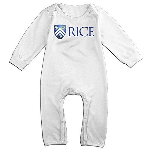 KIDDOS Baby Infant Romper Rice University Long Sleeve Jumpsuit Costume,White 24 Months (Baby Godzilla Costume)