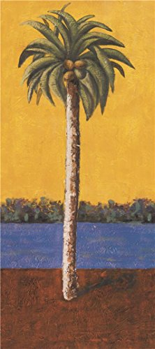 High Quality Polyster Canvas ,the Vivid Art Decorative Prints On Canvas Of Oil Painting 'Coconut Tree', 20x45 Inch / 51x114 Cm Is Best For Basement Decor And Home Gallery Art And Gifts (How Much Does A Table Lamp Cost)