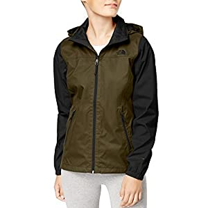 The North Face Coast Women's Waterproof Resolve Plus Rain Jacket (Small, Olive Green/Black)