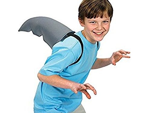 Polyester Shark Fin Costume Accessory. With 2 Elastic Straps. (1 pc./PBH) 12 Inch Size -