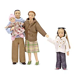 This elegant Victorian-aged family is looking for a happy home! The family includes a mother, father, daughter and baby sister dolls. These beautifully crafted vinyl dolls feature bendable limbs and intricately made clothing. This family will fit per...