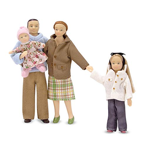 Houses Dolls Make (Melissa & Doug  4-Piece Victorian Vinyl Poseable Doll Family for Dollhouse - 1:12 Scale)