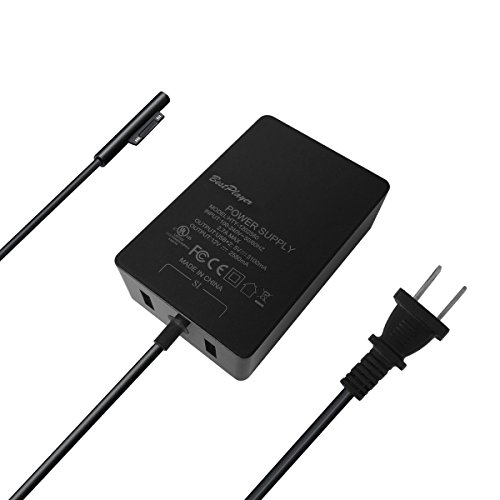 [UL Listed] Surface Pro 3 Pro 4 Charger, BestPlayer Surface Power Supply Adapter 36W 12V 2.58A Charger with 8.2 Ft Power Cord/2-Port USB for Microsoft Surface Pro 3 Pro 4 i5 i7 Tablet by BestPlayer (Image #6)'