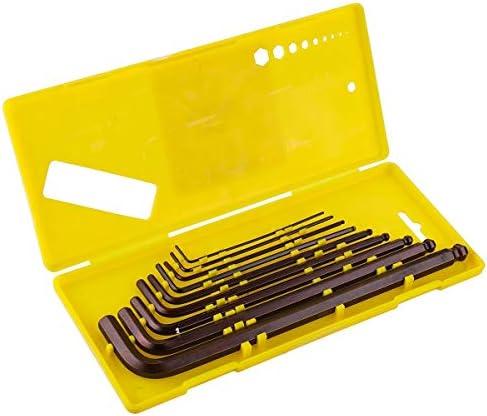 ハードウェアツール 小型 ハンドヘルド 9PCS S2合金鋼ボールヘッドのL形トルクスレンチセット1.5ミリメートル10ミリメートル修復ツールへ