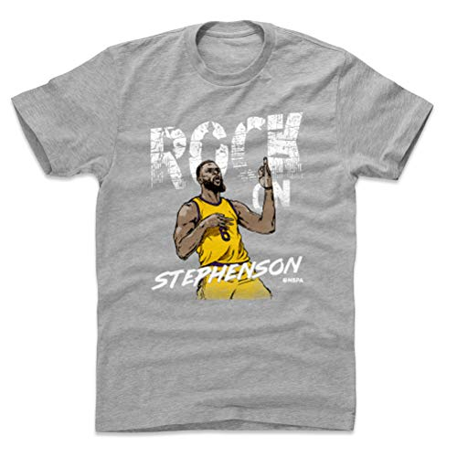 500 LEVEL Lance Stephenson Cotton Shirt (X-Large, Heather Gray) - Los Angeles Basketball Men's Apparel - Lance Stephenson Air Guitar W WHT