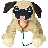 Commonwealth Toys Peppy Pups Pug Plush, Tan Black