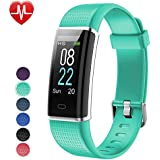 YAMAY Fitness Tracker with Heart Rate Monitor, Fitness Watch Activity Tracker Smart Watch with Sleep Monitor 14 Sports Mode,Pedometer Watch for Kids Men Women (Color Screen,IP68 Waterproof) (Green)