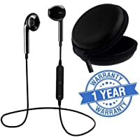 Lambent Magnetic Bluetooth Headphones with Noise Isolation and Hands-Free Mic (S6 Bluetooth Earphone - Black)