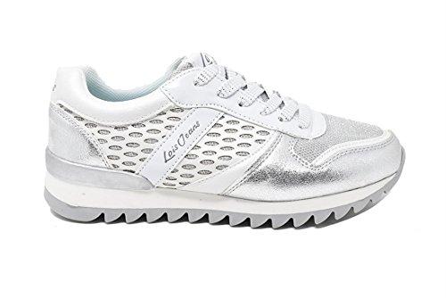 pour Chaussures à Ville Argent Métallique de Lois Femme Jeans Lacets SBqInwxY5