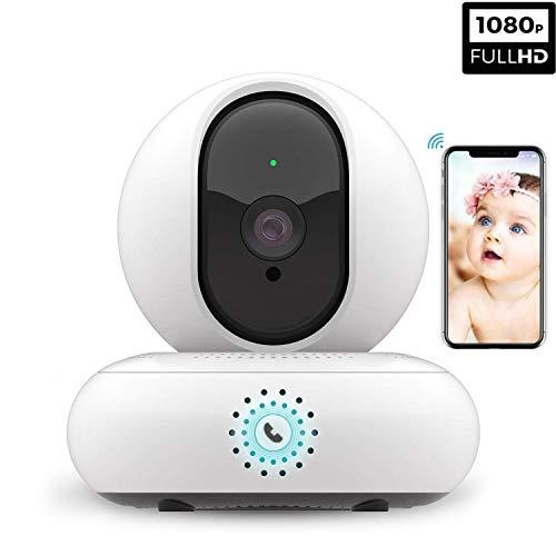 Cámara de seguridad inalámbrica 1080P HD cámara IP WIFI 360 grados cámara de vigilancia con visión nocturna Detección...