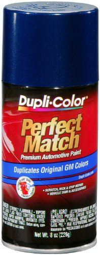 Dupli-Color EBGM03937 Dark Blue Metallic General Motors Exact-Match Automotive Paint - 8 oz. - Metallic Paint Blue