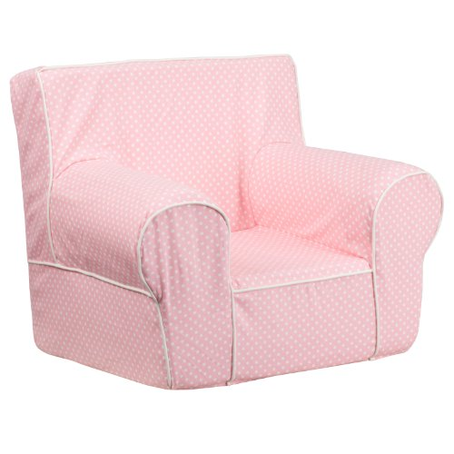 Flash Furniture Small Light Pink Dot Kids Chair