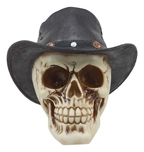 Ebros Western Cowboy Rodeo Skull Statue 6.75