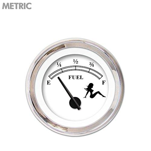 Aurora Instruments Mudflap Black//White Fuel Level Gauge GAR169ZMXKABCC