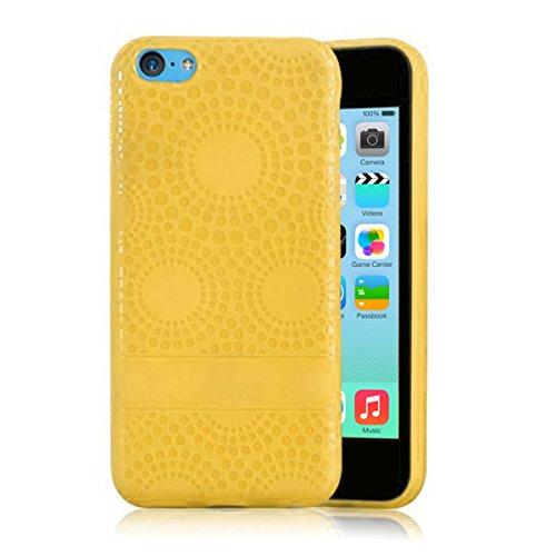 Alienwork Coque pour iPhone 5C ultra-mince Case Etuis Housse Anti chocs Plastique orange AP5C06-03