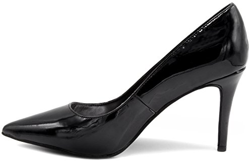 Mari A Womens Felicia Stiletto Heel Pointed Toe Pump Dress Shoe Sandal Black XLzos8em