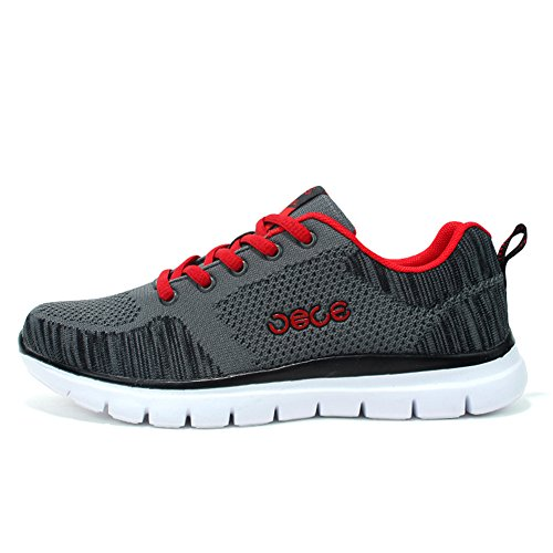 on Jogger Slip Lace Knit US Sport Darkgrey Lightweight ��s D Fly M up Sneakers Men Breathable Fahion 7 5 0wzxP7xq4