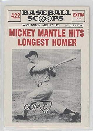 Amazoncom Mickey Mantle Baseball Card 1961 Nu Cards