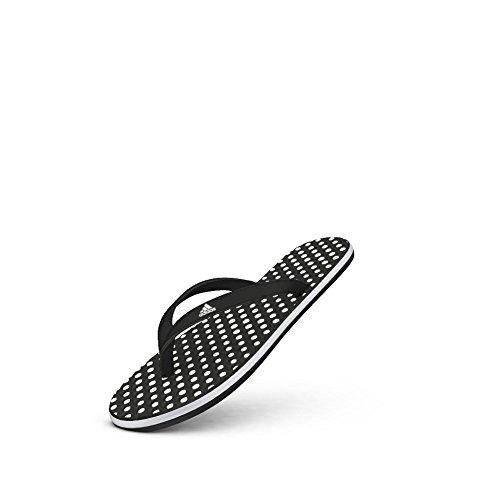 adidas Women's Eezay Dots W Athletic Sandal,White/Black/Black,8 M - Dots Sandals Womens