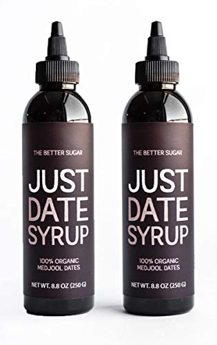 Just Date Syrup: Award-Winning Organic Date Syrup I Two 8.8 OZ Squeeze Bottles I Low-Glycemic, Vegan, Paleo (Best Korean Bbq San Francisco)