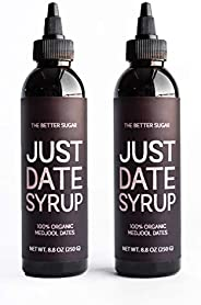 Just Date Syrup: Award-Winning Organic Date Syrup I Two 8.8 OZ Squeeze Bottles I Low-Glycemic, Vegan, Paleo | 1 Ingredient :