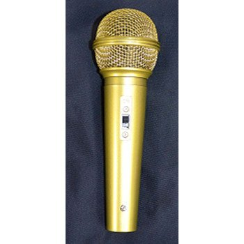 The Cosplay Company Gold Microphone