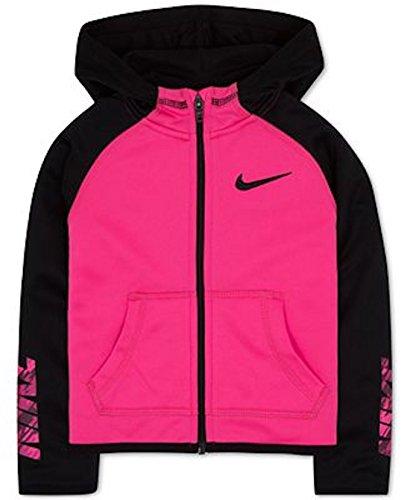 Nike Little Girls Therma Zip Hoodie Jacket Pink Size 5, 6, 6X (5)