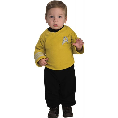 Star Trek Romper Captain Kirk, Kirk Print, 6-12 Months (Star Trek 7 Of 9 Costume)