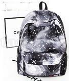 Galaxy Backpack / Back-to-School / New Hot Sale Unisex Canvas School Bag Travel Bag Shoulders Bag / Galaxy Grey