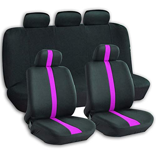 Universal Car Seat Cover-100% Breathable with 5mm Composite Sponge Inside,Airbag Compatible (Color : Rose) - Pair Estate Roses