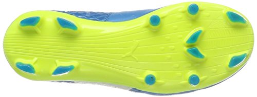 Puma One 17.1 FG Jr, Zapatillas de Fútbol Unisex Niños Azul (Atomic Blue- White-safety Yellow)