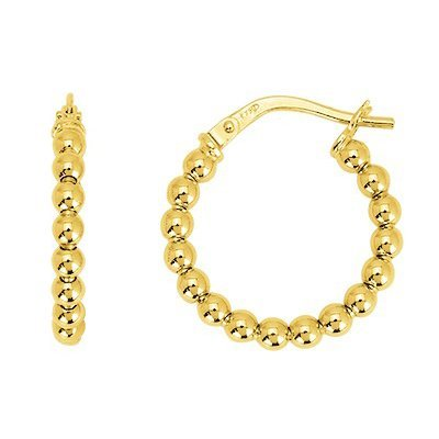 So Chic Bijoux © Boucles d'oreilles Femme Créoles Boules Lisses 15 mm Or Jaune 750/000 (18 carats)