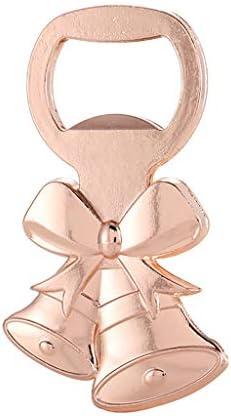 Angelliu - Abrebotellas de 1 Pieza, aleación de Zinc, Oro Rosa, Forma de Campana de Navidad, Lindo sacacorchos