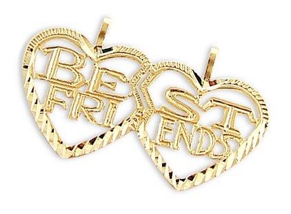 Heart Best Friends Breakable Charm Pendant 14k Yellow (14k Best Friend Charm)