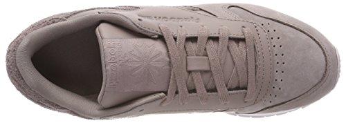 para 0 sandy Zapatillas Cl Luck Lthr Morado Lavender Taupe Niñas Premium Reebok de Deporte White 4qX6aWS4Z