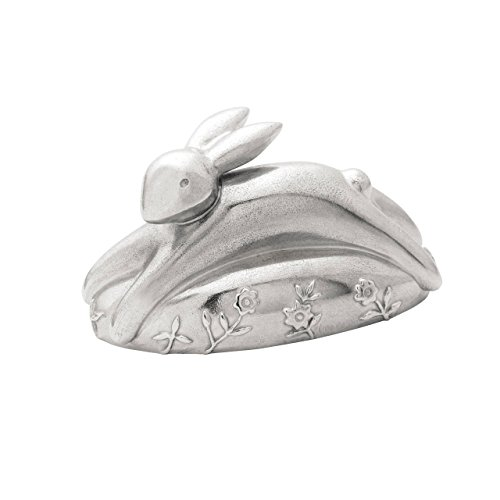 Reed & Barton P5027 Quilted Rabbit Pewter Music (Lighted Music Box)