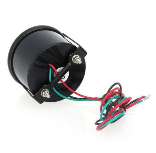 KKmoon Tac/ómetro Medidor Digital de Tach para Coche 52mm 2 Pulg LCD 0 ~ 9999RPM Luz Advertencia