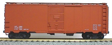 Accurail 3599 40' AAR sd stl bx Data ox (Door Boxcar Single Aar)