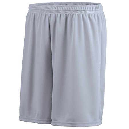 Augusta Sportswear BOYS' OCTANE SHORT S Silver Grey - Double Knit Polyester Softball Shorts