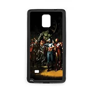 Avengers Comic Samsung Galaxy Note 4 Cell Phone Case Black yyfabb-140747