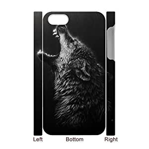Personalized New Print Case for Iphone 4,4S 3D, Wolf Phone Case - HL-R665074