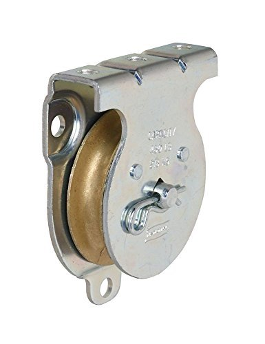 National Hardware N233-254 25 Pack 3219BC 2in. Wall and Ceiling Mount Single Pulley, Zinc Plated by National Hardware